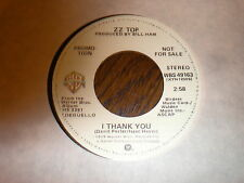 ZZ Top 45 I Thank You WARNER PROMO