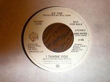 ZZ Top 45 I Thank You WARNER PROMO