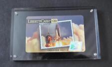 Vintage Philatelic SVC Liberty Cash Card Mint Mounted In Acrylic Original Box 5""