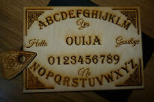 wooden laser engraved ouija boards A4 + Planchett set