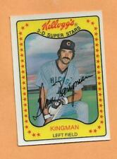 DAVE KINGMAN 1981 KELLOGGS 3-D SUPERSTARS CARD # 47