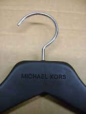 "MICHAEL KORS BLACK WOOD RETAIL 17 1/4""  DRESS SHIRT & ADJUSTABLE HANGERS SET 10"