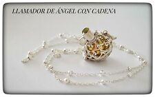 LLAMADOR DE ANGEL CON CADENA EN PLATA  ANGEL CALLER WITH CHAIN IN SILVER