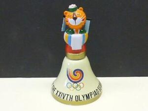 1988 Seoul Olympic Korea Souvenir Bell Metal Hodori Mascot Tiger Figure