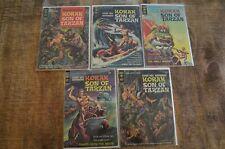 Korak Son of Tarzan lot of 5 #1 #8 #10 #22 #23 (Gold Key, 1965) VG/FN condition