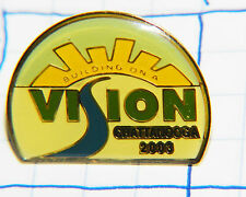 """CHATTANOOGA """"BUILDING ON A VISION"""" 2003 TENNESSEE SOUVENIR METAL HAT LAPEL PIN"""