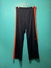 PUMA Full Mesh Pants With Lining Men's L No Pockets Track Pants Comfy Navy/Red