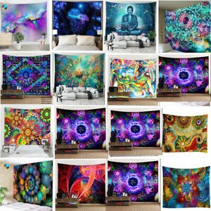 Psychedelic Trippy Hippie Tapestry Wall Hanging Blanket Home Decor Art Tapestry