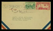 Dominican Republic 1932 Airmail Cover Santo Domingo to Oh franked Scott C10, 260