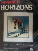 Monarch Horizon Counted Cross Stitch THE SKIER T1316 New/ repackaged