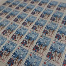 FEUILLE SHEET TIMBRE CROIX ROUGE RED CROSS N°1828 x50 1974 NEUF ** LUXE MNH