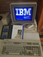 IBM 8555 PS/2 SX 55 INTEL 2mb RAM+Monitor+Keyboard+Mouse+Manual+Software WORKING