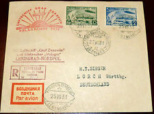 Brief Sowjetunion Zeppelin Polarfahrt 1931 Leningrad Eisbrecher Malyguin Lorch