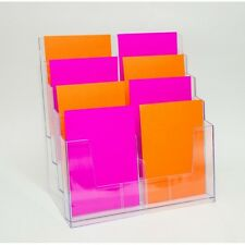 A5 Brochure Holder - Large 8 Pocket or Tier, Clear Plastic BHHA44