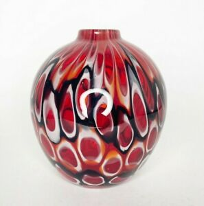 Crate & Barrel Art Glass Bud Vase Koda Mini  Hand Blown