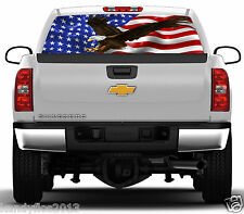 American Flag Eagle Flight #02 Rear Window Graphic Tint Truck Stickers Decals