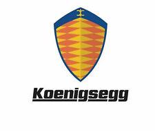 Koenigsegg Sticker Vinyl Decal 4-540