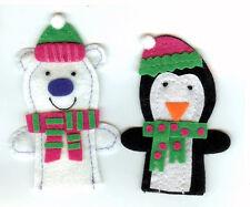 Christmas Finger Puppets Polar Bear And Penguin: