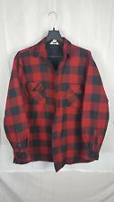 Timber Run Men's Xl Buffalo Plaid Flannel Jacket Red, Black Check Chore Vintage