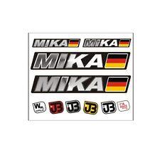 """ Mika"" Auto Fahrrad Motorrad Kart Helm Fahrername Aufkleber Sticker Flagge"