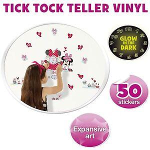 Minnie Mouse Wall Clocks & Wall Stickers Glow In The Dark