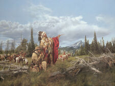 """In the Land of the Teton Sioux"" Paul Calle Limited Edition Giclee Canvas"