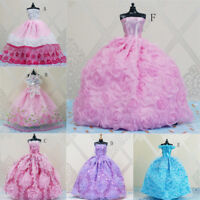 Handmade Princess Wedding Party Dress Clothes Gown For doll Dolls GiftBY CRIT
