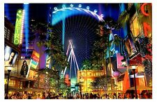 High Roller Wheel Postcard Las Vegas Nevada City View Linq Night Ride New