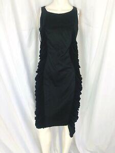 ELM DESIGN size 2 black ruched sleeveless dress
