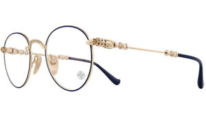 Chrome Hearts Blue & Gold Bubba A Eyeglasses Glasses Frames