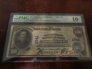 1902 $100 Crocker First National Bank of San Francisco, CA  Charter 1741 PB PMG