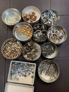 Vintage Stems, Winding Stems, Crowns, Parts For Repair Watch Lot!! NR