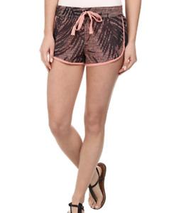 UNIONBAY Women's Shorts S Small Drawstring Elastic Waist Print NWT