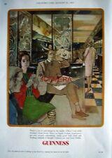 1967 GUINNESS Beer Advert 'DOWNEYS Steak House, NY': John Ward Print AD (GE4381)