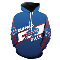 Buffalo Bills Hoodie Pullover Sweatshirts Coat Sweater Football Fans Gifts