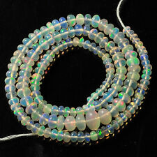 """3.3mm-8mm Fine Ethiopian Welo Opal Smooth Rondelle Beads 16"""" Strand"""