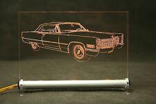 Cadillac DeVille 1966  AutoGravur auf LED LEUCHTSCHILD