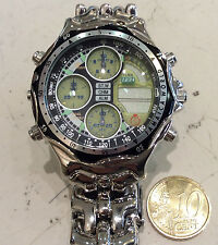 Pryngeps Jamaica World  orologio acciaIo anni 90 nuovo verde uomo mm 42
