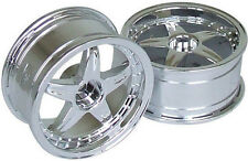 RC Car 1/10  RIMS  WHEELS Package KAWADA 5 Star  Narrow 26mm CHROME   *SET OF 2*