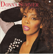 45TRS VINYL 7''/ GERMAN SP DONNA SUMMER / THIS TIME I KNOW IT'S FOR REAL