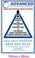 Avviso CCTV Monitorati Adesivo Vinile Kit di locali commerciali