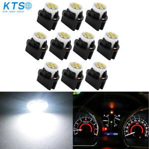 10 x White T10 PC194 LED Instrument Panel Cluster Dash Light Twist Lock Socket