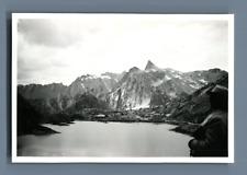 Suisse, Grand Saint Bernard  Vintage silver print.Vintage Switzerland  Tirage