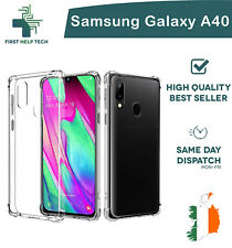 Samsung Galaxy A40 Case Cover ShockProof Soft Bumper Air Case Clear TPU Silicone