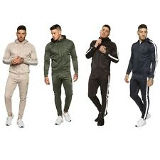 Enzo Mens Full Tracksuit Slim Fit Joggers Jogging Bottom Full Zip Up Hoodie Top