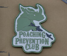 """PVC / Rubber Patch """"Poaching Prevention Club"""" with VELCRO® brand hook"""