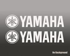 2x YAMAHA STICKER DIE CUT DECAL VINYL RACING MOTO GP r1 fzr 600 350 450 400 r6