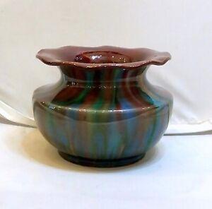 Art Nouveau Hungarian Badár Balázs, Gorka Géza's Master Mezőtúr Ceramic Bowl