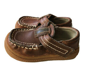 EUC Boys Shoes Livie & Luca Trigo Distressed Brown 4 Toddler