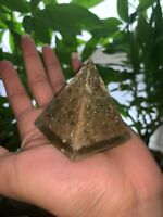 Orgonite 2 for 1 Orgone Pyramid Gold Apatite Energy Generator